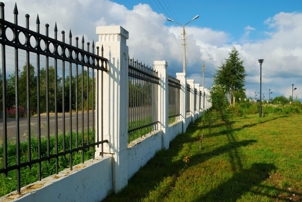 fences beside the road