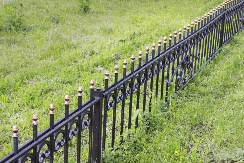 barrier fences on the ground