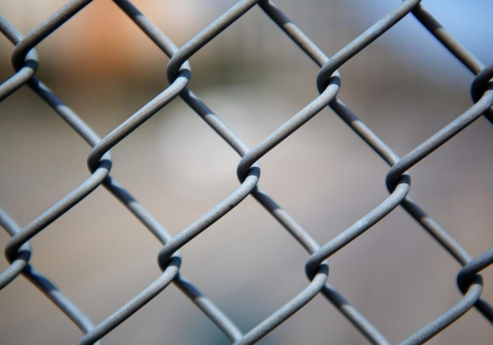 old chain link fence