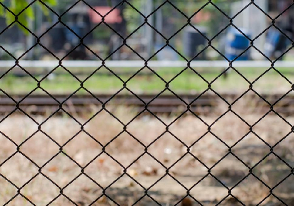 chain link fence for barrier