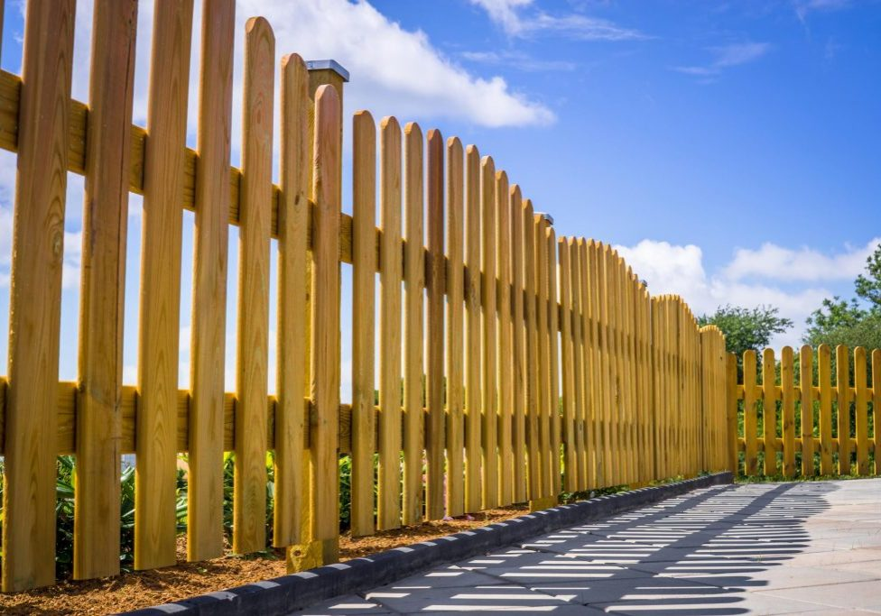 wood fences for barriers